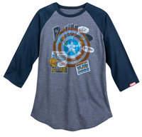 Disney Captain America Baseball T-Shirt for Men