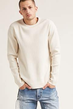 21men 21 MEN Ribbed Knit Sweater