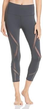 Alo Yoga Mesh-Inset Cropped Leggings