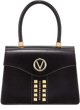 Mario Valentino Valentino By Melanie Soave Leather Satchel Bag - Golden Hardware