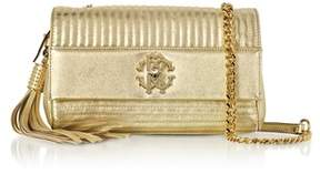 Roberto Cavalli Women's Gold Leather Shoulder Bag.