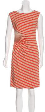 Tahari Arthur S. Levine Striped Knee-Length Dress