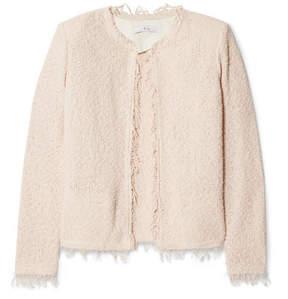 IRO Shavani Frayed Cotton-blend Bouclé Jacket - Blush