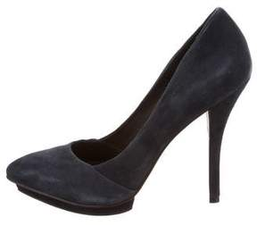 Elizabeth and James Suede Pointed-Toe Pumps