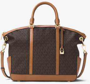 Michael Kors Beckett Large Logo Satchel - Brown - 30T7GBUS3B-200 - ONE COLOR - STYLE