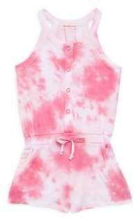 Design History Toddler's & Little Girl's Tie-Dye Jersey Romper