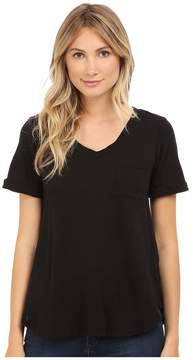 Allen Allen Short Sleeve Vee w/ Pocket Women's Short Sleeve Pullover