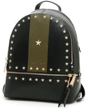 MICHAEL Michael Kors Rhea Stripe Backpack - BLK/OLIVE|NERO - STYLE