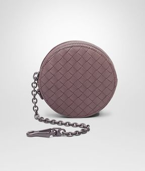 Bottega Veneta Key Ring In Glicine Intrecciato Nappa Leather