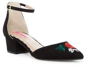 Betsey Johnson Caily Low Heel Ankle Strap