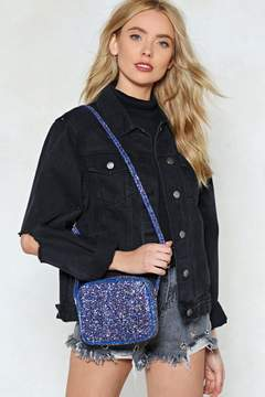 Nasty Gal WANT Don't Be a Quitter Glitter Crossbody Bag