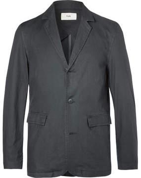 Folk Grey Unstructured Cotton Blazer