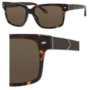 Fossil 2041/S Sunglasses 0YAA 55 Havana (OW brown
