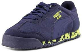 Puma Roma Ms Print Ps Youth Round Toe Canvas Blue Sneakers.