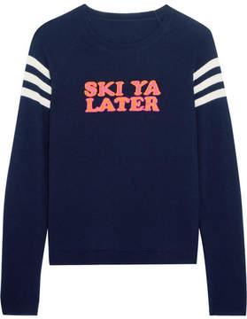 Chinti and Parker Ski Ya Later Cashmere Sweater - Navy