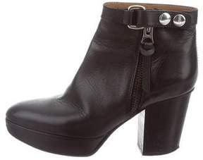 Acne Studios Leather Platform Ankle Boots