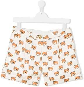Moschino Kids Teen teddy bear print shorts