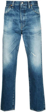 H Beauty&Youth faded effect jeans