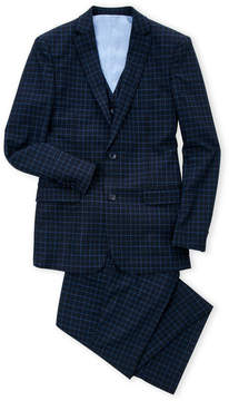 Isaac Mizrahi Boys 4-7) Navy Check 3-Piece Vested Suit