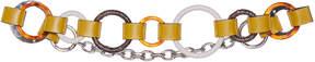 Marni Leather and Python Loop Belt