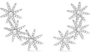 Kenneth Jay Lane Starburst Silver-tone Cubic Zirconia Earrings