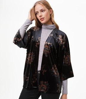 LOFT Floral Velvet Kimono