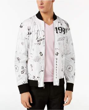 GUESS Men's Graffiti Bomber Jacket
