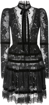 Elie Saab Velvet Long Sleeve Dress