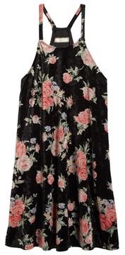 Soprano Girl's Floral Print Velvet Slipdress