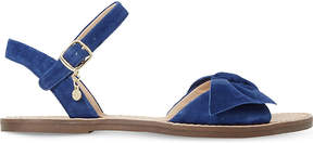 Dune Lettie suede bow sandals