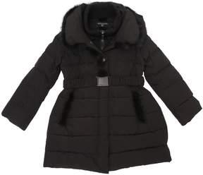 MonnaLisa Nylon Down Coat W/ Mink Fur Details