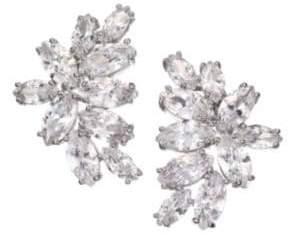 Fallon Crescent Crystal Stud Earrings