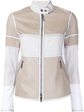 Callens panelled zipper jacket