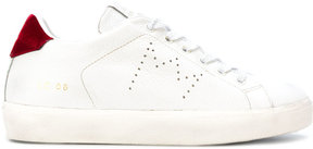 Leather Crown contrast heel counter sneakers