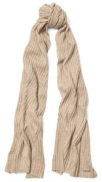 Ralph Lauren Rib-Knit Wool-Blend Scarf Lt Camel One Size