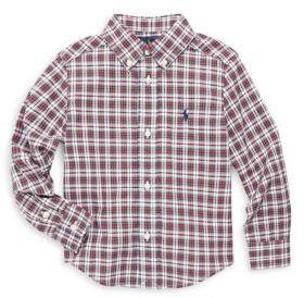 Ralph Lauren Toddler's, Little Boy's & Boy's Long Sleeve Plaid Shirt
