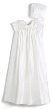 Isabel Garreton Infant 'Traditional' Silk Christening Gown & Bonnet