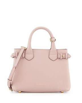 Burberry Small Banner House Check Derby Tote Bag, Pale Orchid - PALE ORCHID - STYLE
