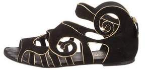 Chanel CC Cutout Sandals