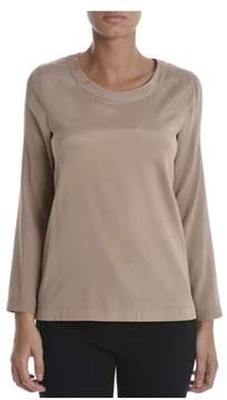 Altea Women's Beige Silk Blouse.