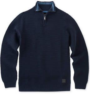 Calvin Klein Ottoman Quarter-Zip Cotton Sweater, Big Boys (8-20)