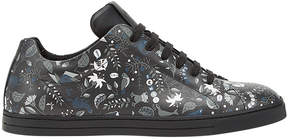Fendi printed lace-up sneakers