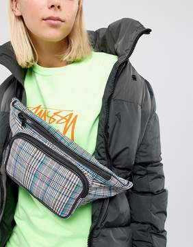 Asos DESIGN oversized check fanny pack