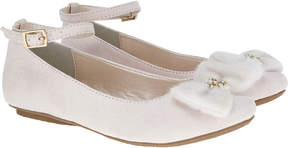 Monsoon Pearl Fluffy Bow Ballerina Shoes