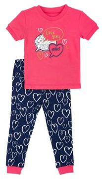 Petit Lem Little Girl's and Girl's Two-Piece Valentine Pajama Set