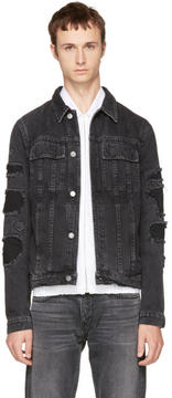 Helmut Lang Black Mr 87 Denim Jacket