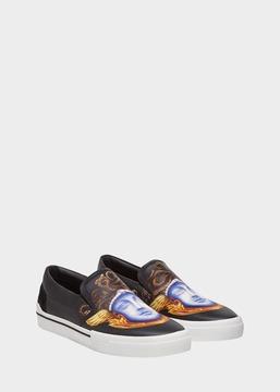 Versace Triptych Print Slide-On Sneakers
