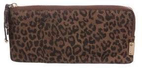 Stuart Weitzman Embossed Leather Wallet