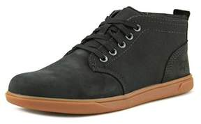 Timberland Groventon Chukka Youth Round Toe Leather Black Chukka Boot.