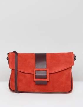 Asos DESIGN suede 90s shoulder bag